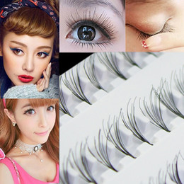 Wholesale Top Individual Lashes - Wholesale-2016 Top Quality Black 8mm 10mm 12mm 60 Individual False Eyelash Cluster Eye Lashes Extension Tray For Make up 8BDI