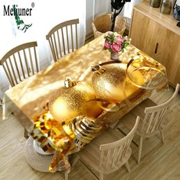 Wholesale Waterproof Cotton Tablecloth - Meijunner OEM Custom 3D Table cloth Waterproof Thicken Rectangular Wedding Tablecloth Exquisite Christmas Decoration Pattern Tablecloth Home