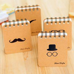 Wholesale Business Memo Pads - 100pcs lot Retro Design Men Style loose-leaf Memo Pads Coil Book Portable Pocket Notebook Diary Notepad Size 10*8.5cm Free DHL E667L