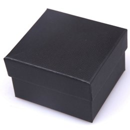 Wholesale Wholesale Nice Watches - Wholesale-Hot Sale Nice Paper Watch Box With Pillow Packing Black Gift Box for watches Case Cheap Price