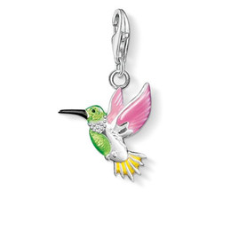 Wholesale Wand Charms - Charm accessories diy pendant necklace wholesale silver Colored hummingbirds Harry Movie Inspired Magic Wand Pendant Necklace Antique Bronze