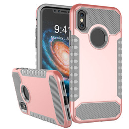 Wholesale Hybrid Combo - For Samsung S8 s8Plus note 8 iphone X 8 case Outdoor Shockproof Hybrid Robot Armor Combo Soft TPU PC Case