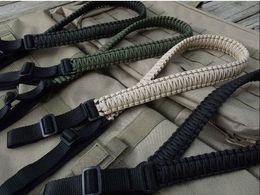 Wholesale Adjustable Paracord Rifle Sling - Tactical 550 Paracord Rifle Sling Adjustable - FREE SHIPPING! sling ball sling lounge sling lounge