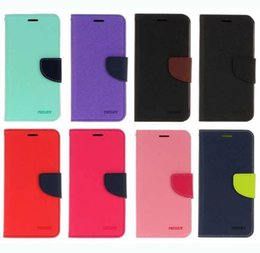 Wholesale Galaxy Note Case Korea - Leather Wallet Case For Iphone X 8 7 Plus Galaxy Note 8 S8 S7 Vertical TPU Korea Hybrid ID Credit Card Slot Flip Cover Hit Dual Color Pouch