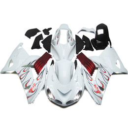 Wholesale White Zx14r - Complete Fairings For Kawasaki Ninja ZX-14R ZX14R ZZ-R1400 06 07 08 09 10 11 ABS White Red Motorcycle Fairing Kit ABS Bodywork Cowlings