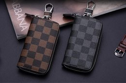 Wholesale High Quality Leather Purses - 4 color KEY POUCH Damier leather holds high quality famous classical designer women key holder coin purse small leather goods bag