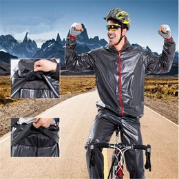 Wholesale Plastic Jackets - 2017 new Cycling Raincoats jacket raincoat sets Bicycle raincoat windbreak Waterproof cycling Outdoor Jackets pants sets out265