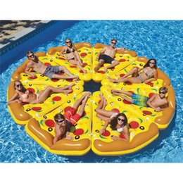 Wholesale Pizza Classic - Water Floating Island 6' Inflatable Pizza Floating Bed Drifting Swimming Summer Toys Swimming Products Water Toys