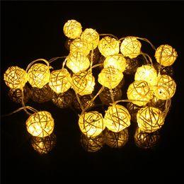 Wholesale Cheap Lanterns Lights - Cheap christmas light deer 4M LED Rattan 10 Balls LED String Light Fairy Lanterns Wedding Outdoor Decor christmas decoration