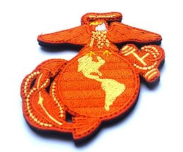 Wholesale Embroidered Anchor Patch - VP-64 2016 Embroidered patches Seals Marines Global Hawk and anchor Tactical 3D Patch Combat Badge Fabric Armband Badges sew on patches