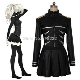 Wholesale Top Anime Cosplay Costumes - Wholesale-Tokyo ghouls Kaneki Ken Fight Uniform Dress Outfit Cosplay Costume Tops+Skirt+Socks