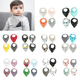 Wholesale Boy Bandanas - 132styles 2017 New INS fox bibs Baby bibs burp cloths bandana bibs baby bandana Infant Boy Girl Waterproof Dribble Bibs Bandanas