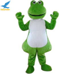 Wholesale Adult Kermit Frog Costume - Fancytrader Kermit the Frog Mascot Costume, Animal Mascot Costume Fancy Dress for Party Halloween Costume Adult Size Free Shipping 4 Models