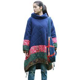 Wholesale Long Skirt Plus Size Patterns - LZJN Winter Coat Warm Women's Jacket Cotton-padded Clothes Plus Size Tops Heaps Collar Fashion Outerwear Long Jacket Parka 15135