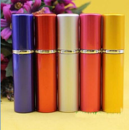 Wholesale Mini Refillable Perfume Atomizer Bottle - 5ml Mini Portable Refillable Perfume Atomizer Colorful Spray Bottle Empty Perfume Bottles fashion Perfume Bottle Free Shipping
