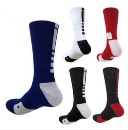 Wholesale Wholesale Basketball Socks - USA Professional Elite Basketball Socks Long Knee Athletic Sport Socks Men Fashion Compression Thermal Winter Men's Socks wholesales
