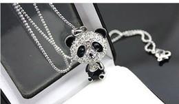 colliers de panda Promotion Nouveau brillant exclusif panda collier strass super charme panda collier pour femmes bijoux Mignon génial panda pendentif colliers