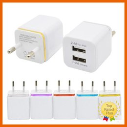 Wholesale Chinese Solar Phone Charger - iPhone 7 US EU Universal Home Travel Dual Port AC USB Wall Charger For iPhone 7 6 6s Plus Samsung Android Phone