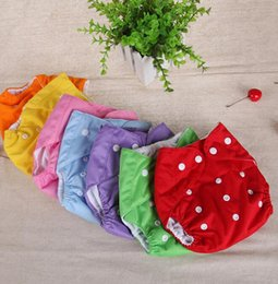 Wholesale Diaper Shorts Washable - Infant Diapers Nappy Toddler Washable Cloth Diaper Diapers Pants Baby Diaper Covers Nappy Shorts Adjustable Reusable Nappies cover KKA2141