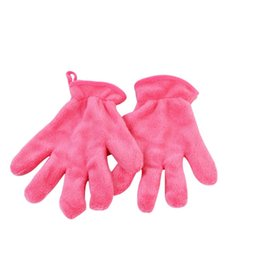 Wholesale Microfiber Facial - Wholesale- High Quality Microfiber MakeUp Removal Facial Cloth Gloves Towel Beauty Skin face Washcloth free shipping