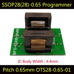 Wholesale ic socket adapters - SSOP28 Adapter Programming Socket TSSOP28 IC Test Socket Programmer OTS-28-0.65-01 ssop8ssop14ssop16ssop20ssop24 Burn in Socket