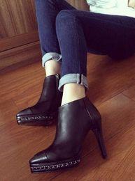 Wholesale Leather Pumps Kids - escarpins semelle rouge Genuine Leather high heel wedge shoes Autumn winter women extreme high heels women 8cm pumps high heels Famous brand
