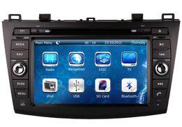 Wholesale Mazda Car Audio Usb - Car DVD Player for Mazda 3 Mazda3 2010 2011 2012 2013 with GPS Navigation Radio BT USB SD AUX Audio Video Stereo
