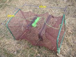 Wholesale fishing bait net - Crab Fish Crayfish Lobster Shrimp Prawn Eel Live Trap Net Bait Fishing Pot 45X25X25CM
