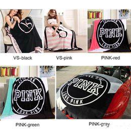 Wholesale Pink Plaid Bedding - PINK Blanket Cheap VS Secret Blankets Fashion Soft Kintting Comfortable Carpet 130cm*150cm Sofa Sleep Nap Plane Travel Plaids Bedding Towel