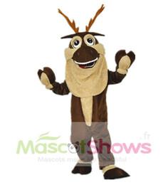 Wholesale Reindeer Christmas Costume - Reindeer Mascot Costume Christmas Costume Adult Size Sven Mascot Costumes