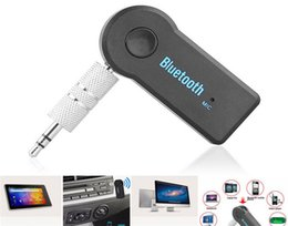 Wholesale Mobile Phone Technologies - Universal 3.5mm Car A2DP Wireless Bluetooth Car Music Receiver Adapter Handsfree For mobile phone Car Wireless Technology Retail Package