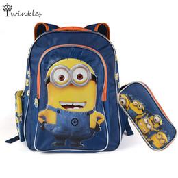 Wholesale Mochilas Minions - Minion Backpack mochilas 3d Kids School Bags for Boys girls Schoolbag Backpacks children fashion bag mochila escolar infantil
