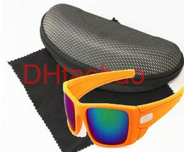 2019 vélo noir mat été libre navire homme sport lunettes de soleil femme lunettes de vélo Bicycle Glass 7colors dazzle couleur avec boîte lunettes de soleil noir mat promotion vélo noir mat