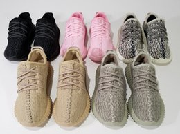 Wholesale Blue Shoes Size 34 - The Best Quality with receipt,Kim Kardashian 350 Boost Infant Turtledove Pirate Black Kids PU+ RB 1:1 Baby Shoes Size #28-#34