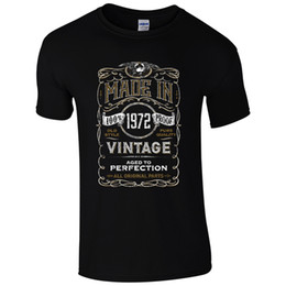 Wholesale Funny Vintage Shirts - Made in 1972 T-Shirt Born 45th Year Birthday Age Present Vintage Funny Mens Gift