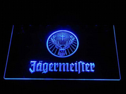 Wholesale Lawn Signs - tm7126 Jagermeister Deer head LED Neon Sign sign art signs lawn sign arrow