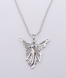Wholesale Angels Butterflies - FREE SHIPPING Hot Sale Alloy Butterfly Angel Necklace,N1717
