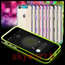 Wholesale Hybrid Luminous - tpu pc hybrid incoming call led Luminous case iphone 7 5 6 6s 6 plus samsung galaxy note 5 s5 s6 s7 edge