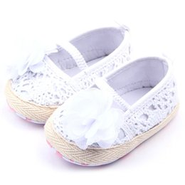 Wholesale Crochet Baby Boy Shoe - Wholesale- Baby Girls Flower Princess Knittng Crocheted Crib Shoes Infant Toddler Prewalker Best