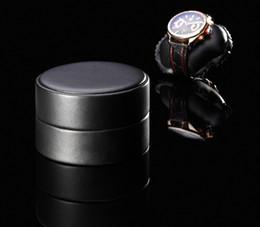 Wholesale Watch Winder Storage Box - free shipping NEW Watches Winders Black Automatic Cylinder Single Watch Winder Mute Box Watch Case Storage Display Box Gift EU Plug