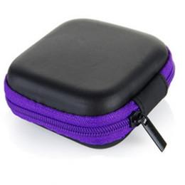 Livraison gratuite Mini Zipper Casque dur, sac d'écouteur en cuir, organisateur de câble de protection Usb, boîte de poche portable écouteurs ? partir de fabricateur
