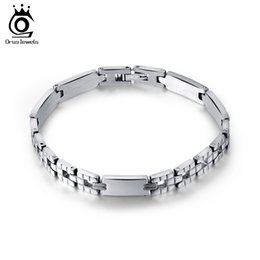 Wholesale Stainless Steel Jewelry Bracelets - Men Women Jewelry Bracelet links & chains Silver Color Stainless Steel Bracelet Bangle Male Accessory Wholesale GTB33