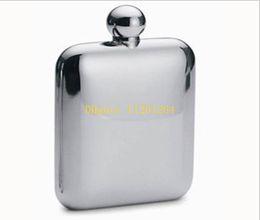 Wholesale 6oz Flask Funnel - 20pcs lot 6 oz Mirror Glazing Stainless Steel Hip Flask 6oz Pocket Bottle for Whiskey Liquor NO Funnel