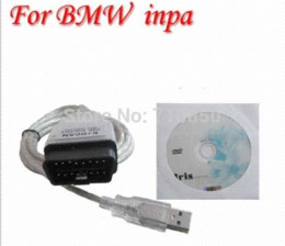 Wholesale Dcan Bmw Diagnostic Scanner - 20pin obd cable as a gift ! FT232RL chip For-BMW INPA K+CAN K+ DCAN USB diagnostic Interface Coder Scanner Reader Free Shipping
