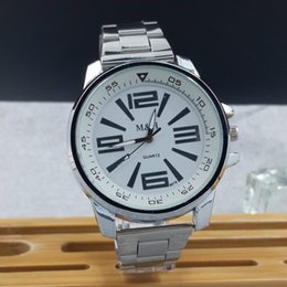 Wholesale Double Watches For Man - 2016 new casual watches for men and women double literal large digital dial quartz watch Yiwu watches the amount of walking