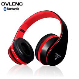 Atacado-OVLENG EB203 Sem Fio Bluetooth Fones De Ouvido Fones De Ouvido Apoio Cartão SD + FM Portátil Dobrável Fone De Ouvido Estéreo Para Chamadas Handfree de