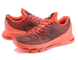 Wholesale Men S Kd Shoes - 2015 Kevin Durant KD 8 Basketball Shoes V8 Bright Crimson With Tick KD8 Sports Shoes Discount Leather Men s Basketball Sneakers Best Price