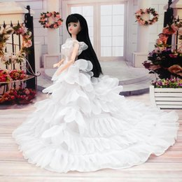 Wholesale Western Dresses For Girls - Wedding Dress For Doll Clothes For Doll Accessories
