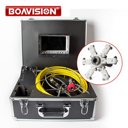 Wholesale Sewer Endoscope - 20M Cable Waterproof Duct Sewer Pipe Inspection Camera System drain Industrial Video Snake Endoscope Camera White Lights Night Vision