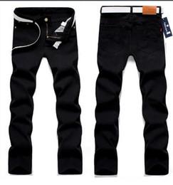 Wholesale Men S Denim Harem - Wholesale-HOT 2016 Outdoor Men's clothing Denim Trousers Black Jeans Straight Cotton Homme Casual pants pantalones hombre harem pants men